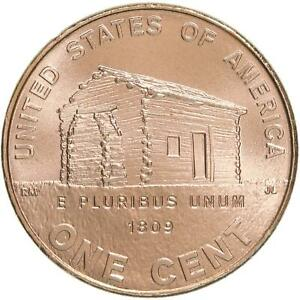 2009 LINCOLN LOG CABIN CENT 1 EARLY CHILDHOOD PENNY SATIN FINISH COPPER PENNY