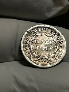 1853 WITH ARROWS LIBERTY SEATED SILVER HALF DIME