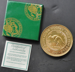 Click now to see the BUY IT NOW Price! 1991 PERTH MINT KANGAROO NUGGET PAPERWEIGHT W/ BOX & COA