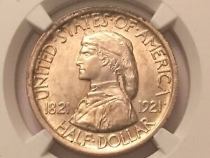 1921 MISSOURI COMMEMORATIVE HALF DOLLAR UNC DETAILS