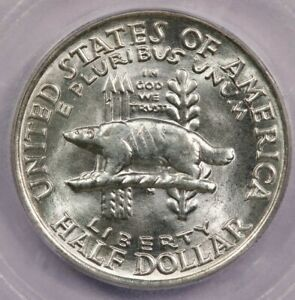 1936 WISCONSIN CLASSIC SILVER COMMEMORATIVE HALF DOLLAR ICG MS66