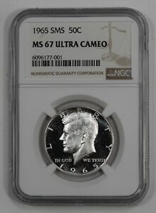 Click now to see the BUY IT NOW Price! 1965 SMS KENNEDY HALF DOLLAR 50C NGC MS 67 MINT STATE UNC   ULTRA CAMEO  001