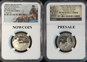 Click now to see the BUY IT NOW Price! 2021 S NGC PF70 TUSKEGEE & WASH CROSSING .999 SILVER PROOF 2 COINS FDI PRESALE