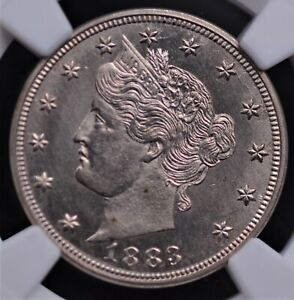 1883 NO CENTS LIBERTY NICKEL NGC MS 65 FROSTY WHITE DEVICES CONTRASTING FIELDS