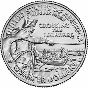 5 ROLLS 2021 PHILLY GEORGE WASHINGTON CROSSING THE DELAWARE QUARTER   IN STOCK
