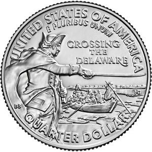 10 ROLLS 2021 PHILLY GEORGE WASHINGTON CROSSING THE DELAWARE QUARTER   IN STOCK