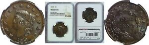 Click now to see the BUY IT NOW Price! 1833 LARGE CENT NGC MS 65  BN