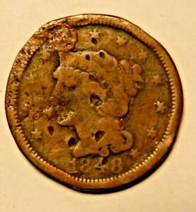 1848 U.S. LARGE CENT AS IS 3