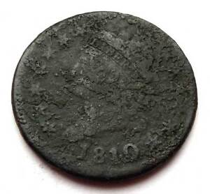 1810 CLASSIC HEAD LARGE CENT   1810 OVER 9 ???