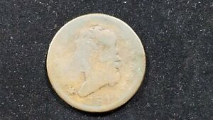 1814 LARGE CENT AG UNEVEN WEAR >200 YRS OLD NICE DARK CHOCOLATE CLASSIC HEAD