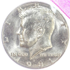 1981 D KENNEDY HALF DOLLAR BU CN CLAD MINT CELLO US COIN