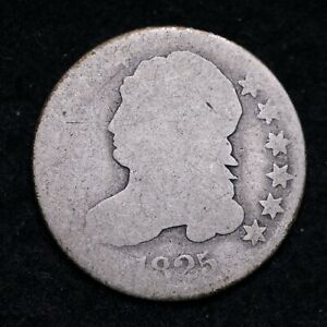 1825 CAPPED BUST DIME  E599 QCE