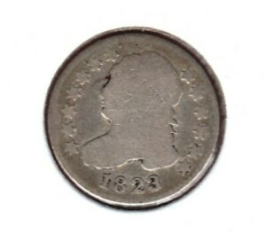 1823/2 CAPPED BUST SILVER DIME GRADES  ALMOST GOOD C3435