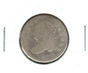 1820 LARGE O CAPPED BUST DIME GRADES ALMOST GOOD BUY IT NOW C1057
