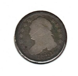 1821 SILVER CAPPED BUST DIME GRADES GOOD C3438