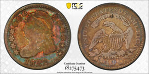 1822 10C CAPPED BUST DIME PCGS VG 10 GOOD TO FINE COLORFUL TONED KEY DAT
