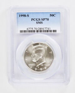 Click now to see the BUY IT NOW Price! 1998 S KENNEDY SILVER HALF DOLLAR PCGS SP70 50C MATTE PROOF