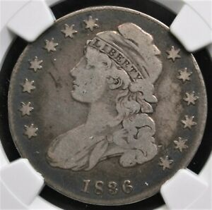 1836 LETTERED EDGE CAPPED BUST HALF DOLLAR NGC FINE 12 WHOLESOME AND ORIGINAL