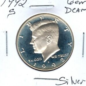 1992 S KENNEDY 90  SILVER HALF DOLLAR STRAIGHT FROM PROOF SET  C5521