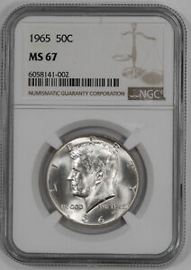 Click now to see the BUY IT NOW Price! 1965 KENNEDY HALF DOLLAR 50C BLAST WHITE NGC CERTIFIED MS 67  002