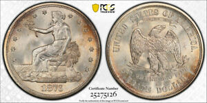 1876 S T$1 TRADE DOLLAR PCGS MS 64 UNCIRCULATED LUSTROUS EXCEPTIONAL COIN
