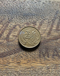 AUSTRALIAN 1966 2 CENT COIN CIRCULATED COND 2C FRILLED NECK LIZARD SD ENGRAVED