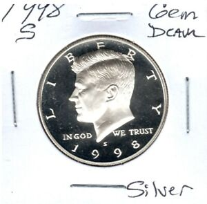 1998 S KENNEDY 90  SILVER HALF DOLLAR STRAIGHT FROM PROOF SET  C5515