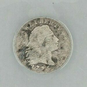 DATE  1795 HALF DIME   GREAT DETAIL W/ FULL LIBERTY & DATE  ANACS AG 3