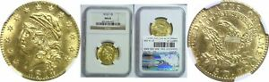 1814/3 FIVE DOLLAR GOLD COIN NGC MS 62