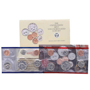 Click now to see the BUY IT NOW Price! 1990 MINT SET 10 PACK ORIGINAL ENVELOPES 100 US COIN LOT