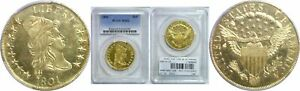 1801 $10 GOLD COIN PCGS MS 62