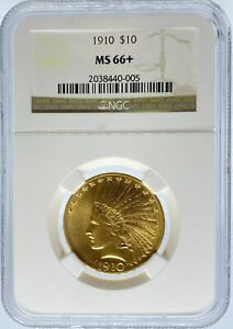 Click now to see the BUY IT NOW Price! 1910 S $10 INDIAN MS66  NGC  PA2038440005