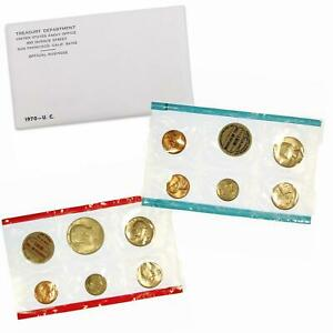 1970 MINT SET ORIGINAL ENVELOPE 10 US COINS SMALL DATE CENT 40  SILVER KENNEDY