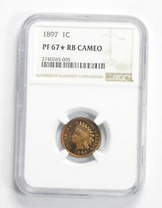 Click now to see the BUY IT NOW Price! PF67  RB CAM 1897 INDIAN HEAD CENT   GRADED NGC  2275