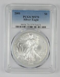 Click now to see the BUY IT NOW Price! MS70 2001 AMERICAN SILVER EAGLE   GRADED PCGS  1669