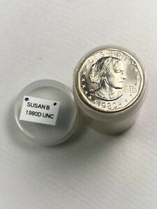 1980 D SUSAN B ANTHONY DOLLAR   $25 ROLL   BU   FROM US MINT SETS