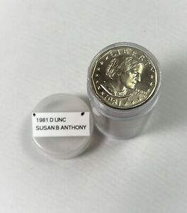 1981 D SUSAN B ANTHONY DOLLAR   UNC   ROLL   $25 FACE   TAKEN FROM US MINT SETS