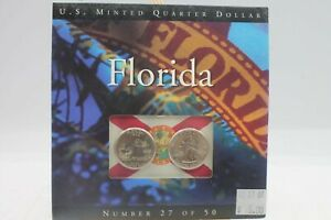 2004 FLORIDA U.S. MINTED UNCIRCULATED QUARTER DOLLAR NUMBERED COIN SET 27 OF 50