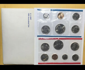 M33 1980 P & D US MINT SET UNITED STATES ORIGINAL GOVERNMENT PACKAGING BOX CELLO
