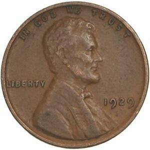 1929 LINCOLN WHEAT CENT EXTRA FINE PENNY XF