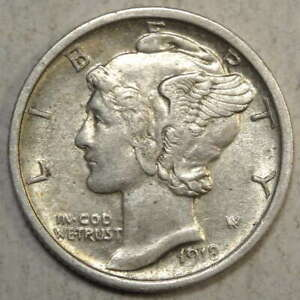 1918 S MERCURY DIME ALMOST UNCIRCULATED  BETTER DATE   0731 05