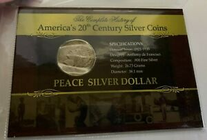 1922 D US PEACE SILVER DOLLAR   THE HISTORY OF AMERICA'S SILVER COINS  987