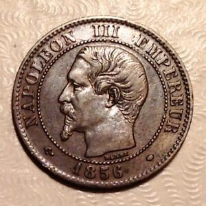 1856 MA FRANCE NAPOLEON III TWO 2 CENTIMES    MARSEILLE MINT