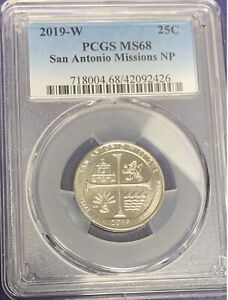 Click now to see the BUY IT NOW Price! 2019W SAN ANTONIO PCGS MS68 WEST POINT QUARTER  PCGS POP 16