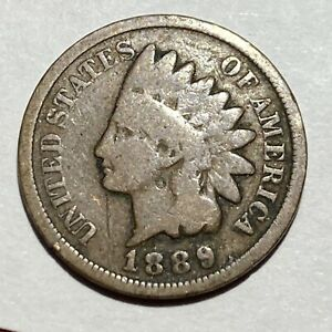 1889 INDIAN HEAD CENT   132 YEAR OLD PENNY   EXACT COIN PICTURED A1
