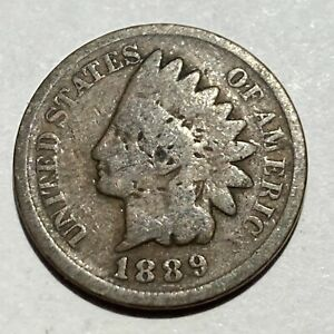 1889 INDIAN HEAD CENT   132 YEAR OLD PENNY   EXACT COIN PICTURED A2
