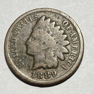 1889 INDIAN HEAD CENT   132 YEAR OLD PENNY   EXACT COIN PICTURED A3
