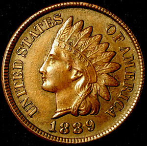 1889 RPD 010 SNOW 6 UNCIRCULATED INDIAN HEAD CENT WK116