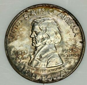 1925 P 1925 VANCOUVER HALF DOLLAR NGC MS64 FLASHY AND ORIGINAL  HANDSOMELY TONED