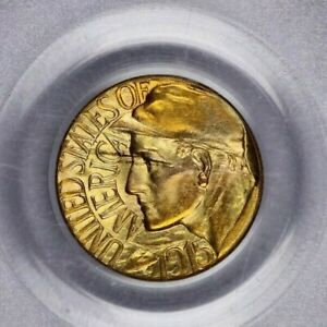 1915 S PANAMA PACIFIC EXPOSITION GOLD DOLLAR $1 PCGS MS63 CAC OLD GREEN HOLDER
